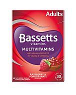 Bassetts Raspberry & Pomegranate Flavour Multivitamins - Adult - 30 Pack