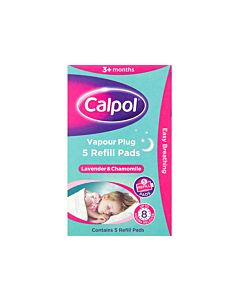Calpol Night Vapour Plug - Lavender and Chamomile - 5 Refill Pads