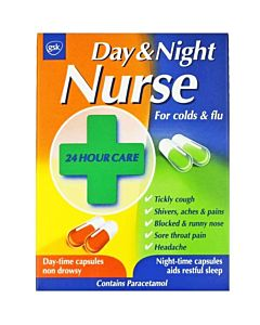 Day & Night Nuse Cold and Flu Capsules Box