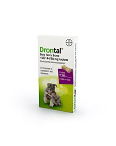 Drontal Flavour Plus Bone Shaped Worming Tablet for Dogs - 6 Tablets