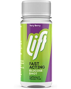 Lift - Fast-Acting Glucose Energy Juice Shots - Very Berry - 60ml Bottle