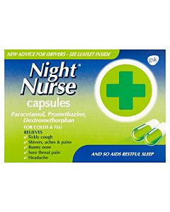Night Nurse Cold and Flu Relief Capsules - 10 Capsules