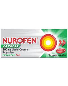 Nurofen Express 200mg Liquid Capsules - 16 Liquid Capsules Pack