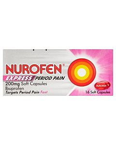 Nurofen Express Period Pain 200mg Soft Capsules - 16 Soft Capsules