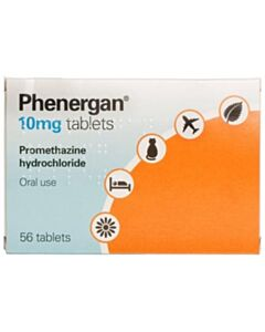 Phenergan Tablets - 10mg - 56 Tablet Pack