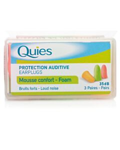Quies Foam Earplugs - 3 Pairs