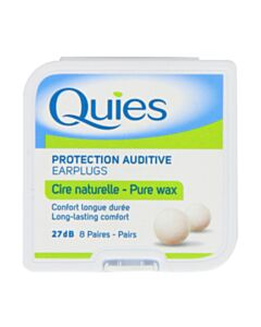 Quies Natural Wax Ear Plugs - 8 Pairs