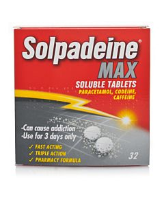 Solpadeine Max Soluble Tablets box