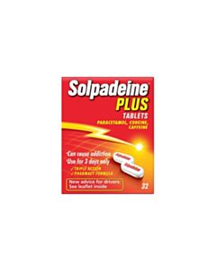 Solpadeine Plus Tablets - Max Strength Pain Relief - 32 Tablets