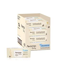Aveeno Baby Daily Care Wipes - 12 x 72 Wipe Pack = 864 wipes