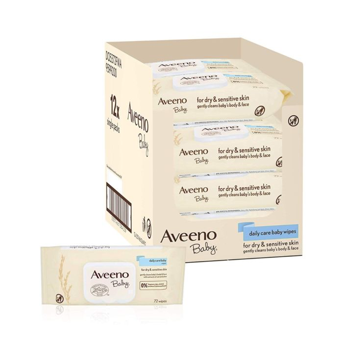 Aveeno multi-buy 12 x 72 wipe box