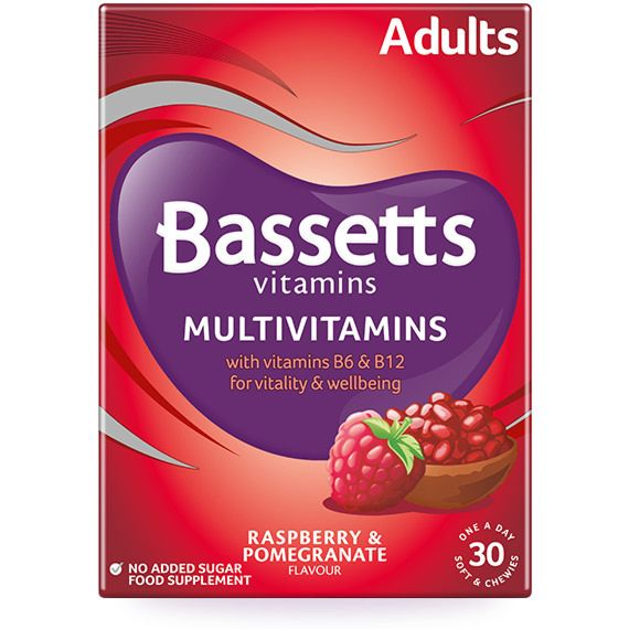Bassetts Raspberry & Pomegranate Flavour Multivitamins - Adult - 30 Pack
