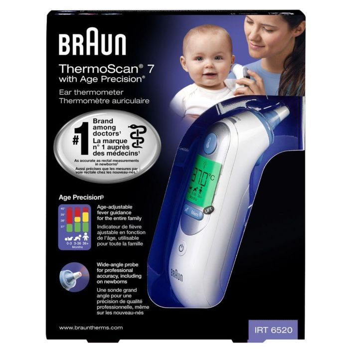 Braun Thermoscan 7 Digital Ear Thermometer with Age Precision