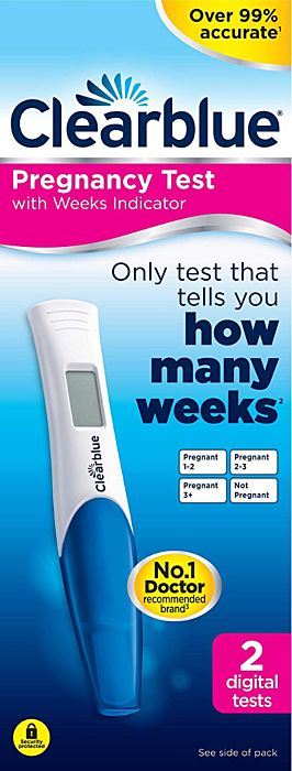 Clearblue Digital Pregnancy Test With Weeks Indicator - 2 Tests