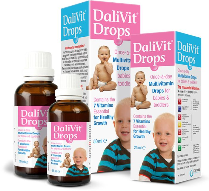DaliVit Multivitamin Drops for Babies & Toddlers - 50ml