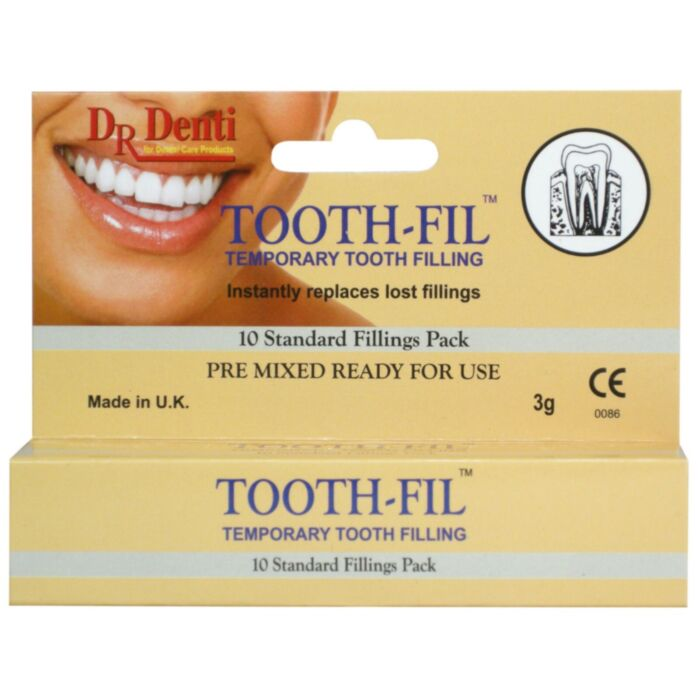 Dr Dentil Tooth-fil - Temporary tooth filling material - 3g
