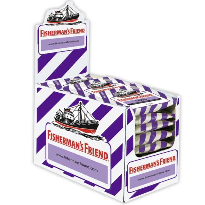 Fisherman's Friend Lozenges Blackcurrant - 25g - Box of 24 Packs