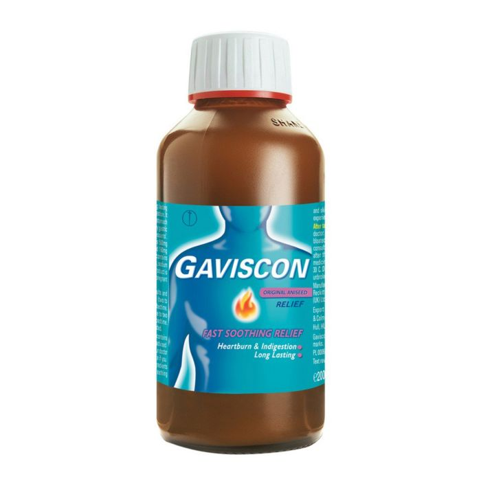 Gaviscon Original Aniseed Flavour Heartburn & indigestion Relief - 600ml Bottle