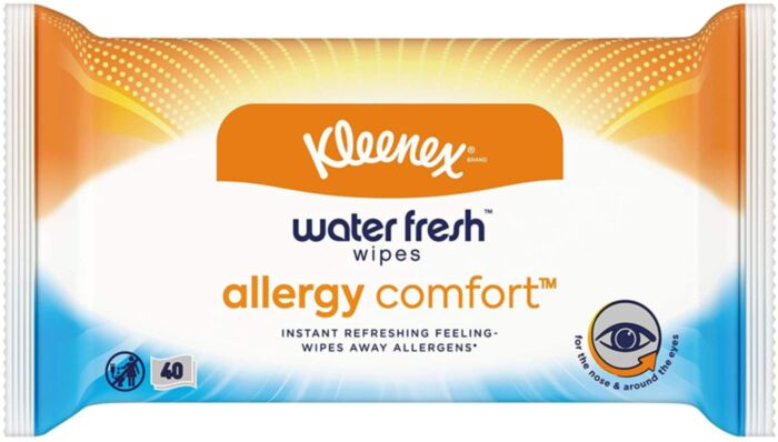 Kleenex Allergy Comfort Water Fresh Wipes
