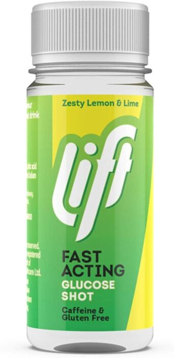 Lift - Fast-Acting Glucose Energy Juice Shots - Lemon & Lime - 60ml Bottle