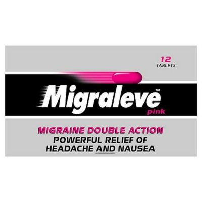 Migraleve Pink - Double Action Migraine Relief - 24 Tablet Pack