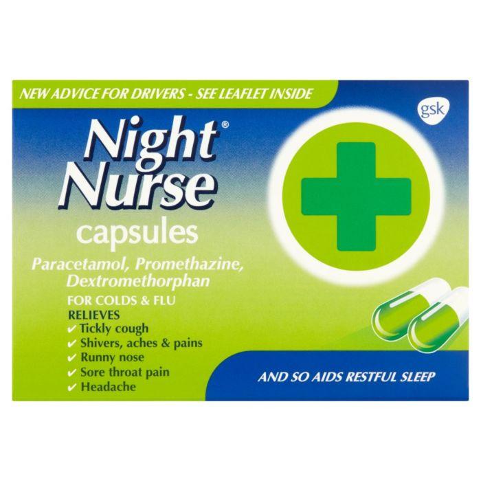 Night Nurse Cold and Flu Relief Capsules - 10 Capsules
