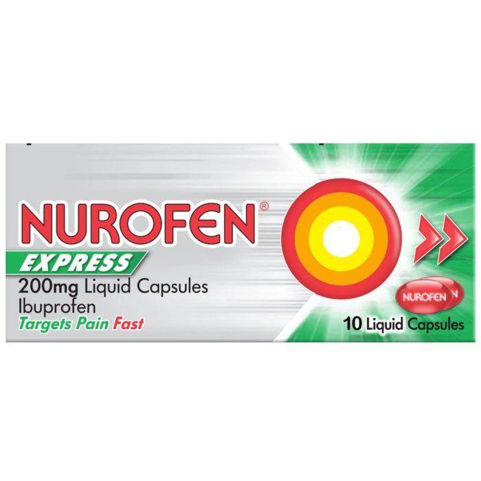 Nurofen Express 200mg Liquid Capsules - 10 Liquid Capsules