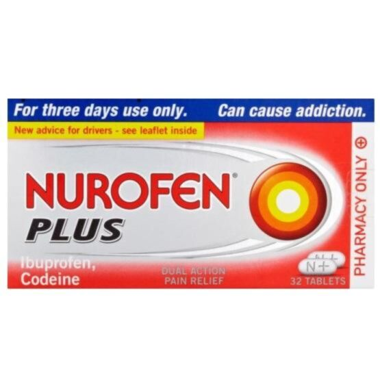 Nurofen Plus - Ibuprofen and Codeine - 32 Tablets