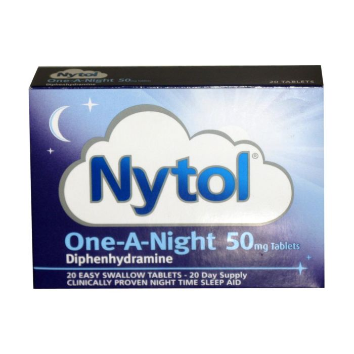 Nytol One-A-Night 20 Tablet Box