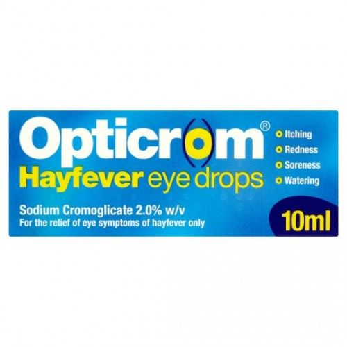 Opticrom Hayfever Eye Drops (Sodium Cromoglicate 2%) - 10ml