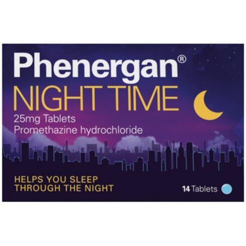 Phenergan Night Time Tablets - 14 Tablets