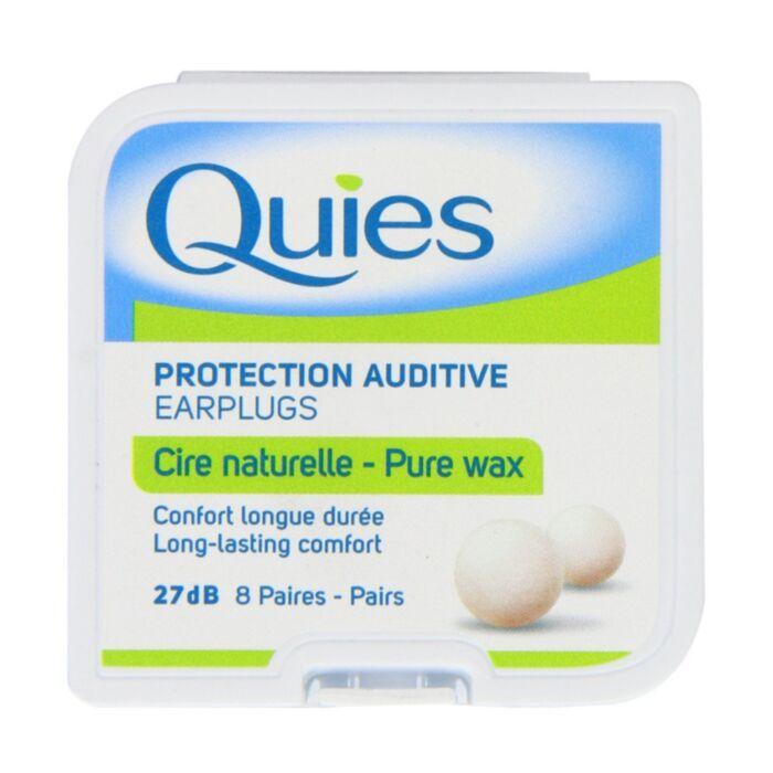 Quies Natural Wax Ear Plugs - 8 Pairs