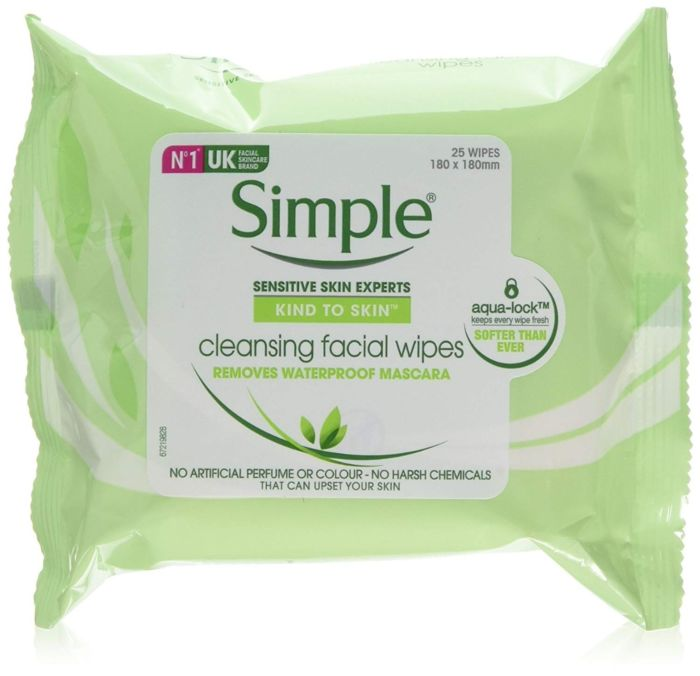 Simple Cleansing Facial Wipes - 25 wipe pack
