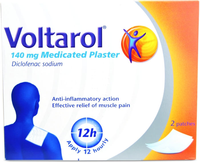Voltarol Pain Relief Patches - Medicated Plaster 140mg - 2 Plasters